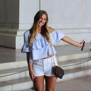 Pac Sun White denim jean shorts